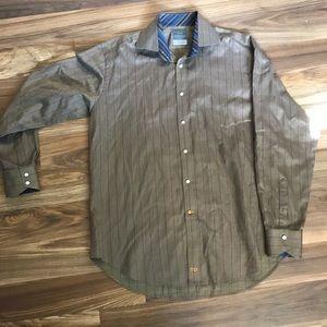 Thomas Dean Men's Button Down Shirt size L